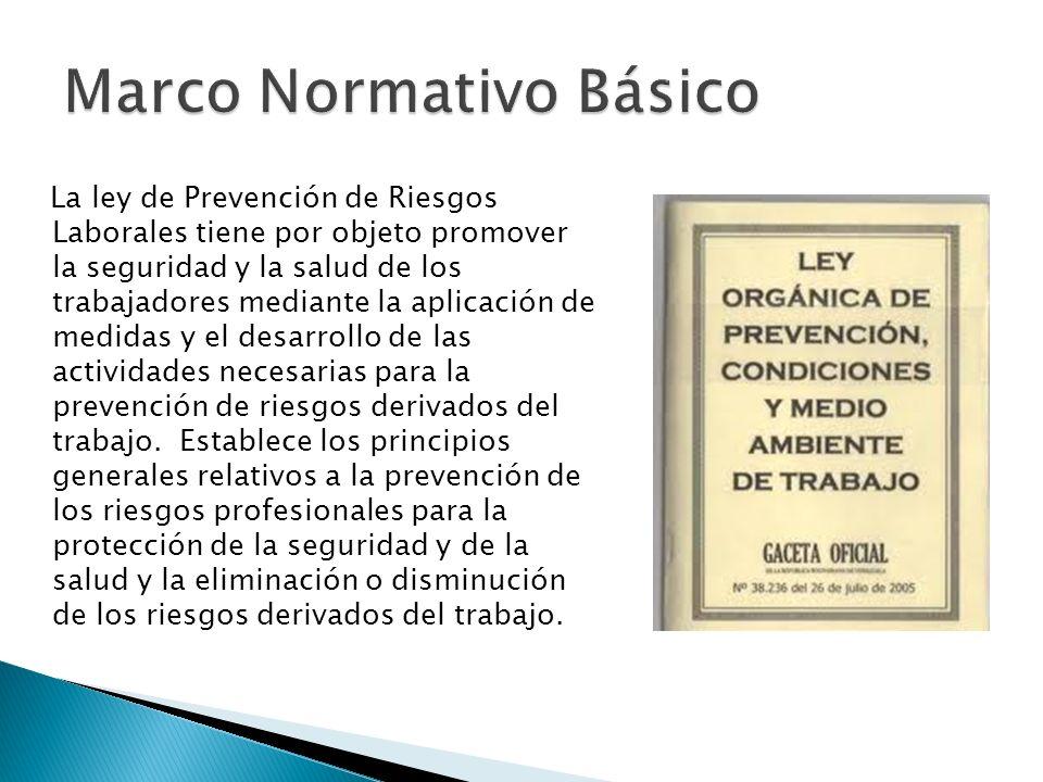 La ley de Prevención de Riesgos Laborales tiene por objeto promover la seguridad y la salud de los trabajadores mediante la aplicación de medidas y el