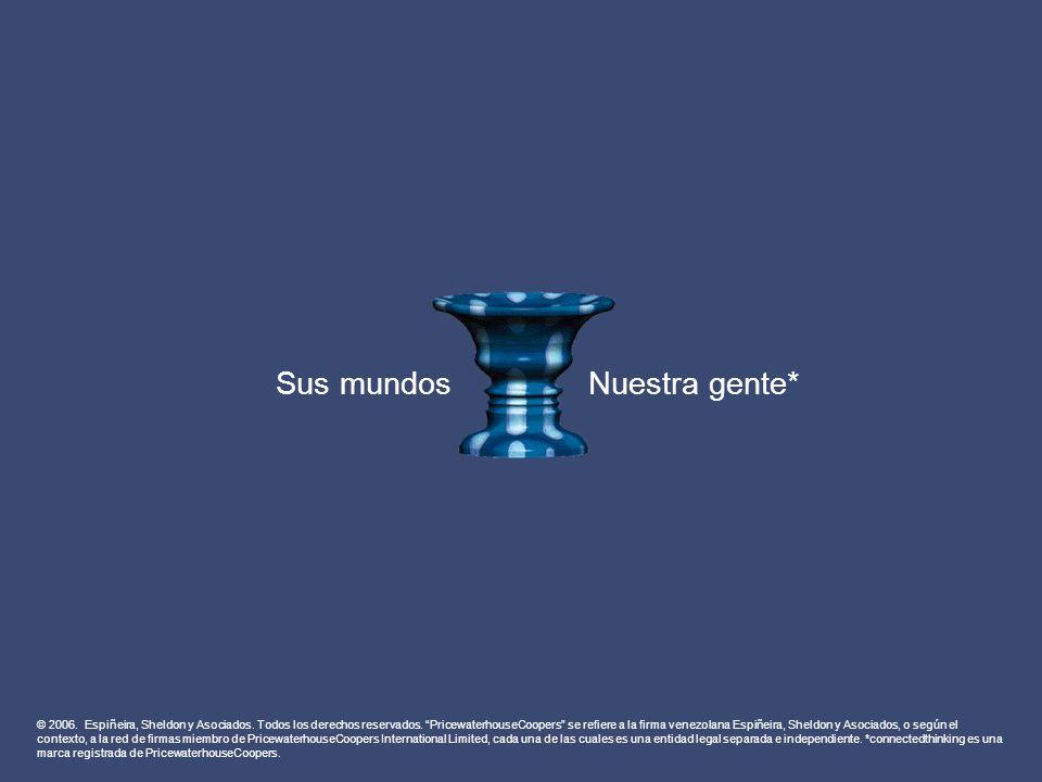 © 2006. Espiñeira, Sheldon y Asociados. Todos los derechos reservados. PricewaterhouseCoopers se refiere a la firma venezolana Espiñeira, Sheldon y As