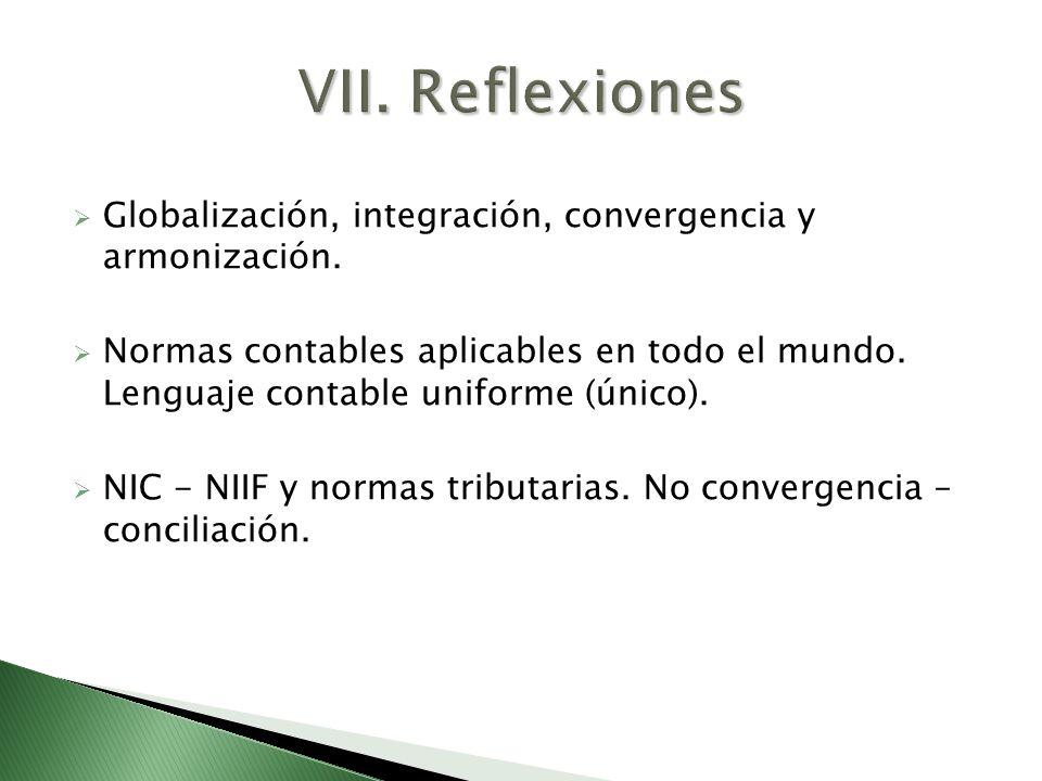 Globalización, integración, convergencia y armonización. Normas contables aplicables en todo el mundo. Lenguaje contable uniforme (único). NIC - NIIF