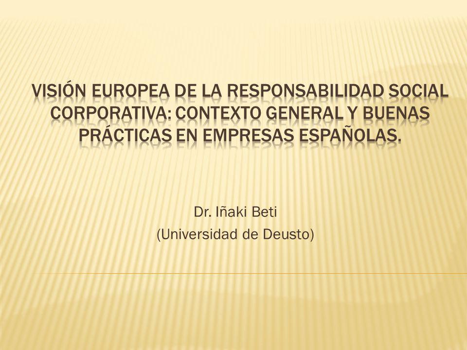 Dr. Iñaki Beti (Universidad de Deusto)