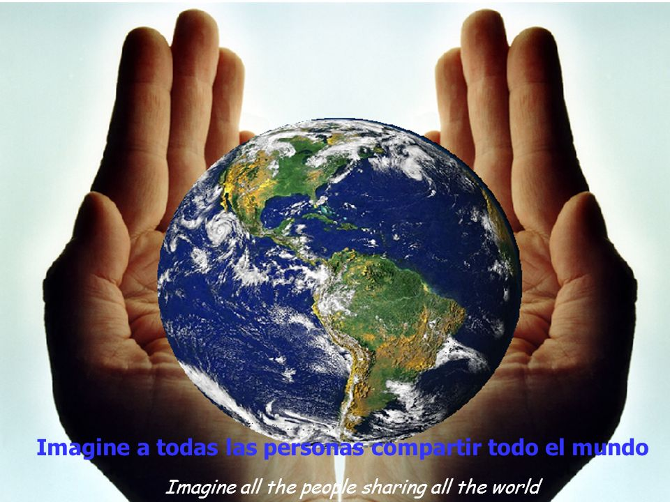 Imagine all the people sharing all the world Imagine a todas las personas compartir todo el mundo