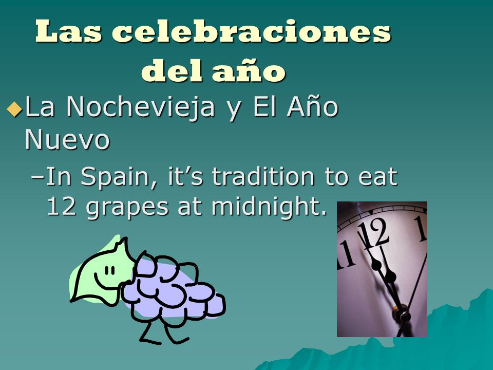 Las celebraciones del año What are some traditions practiced in our culture on this holiday?