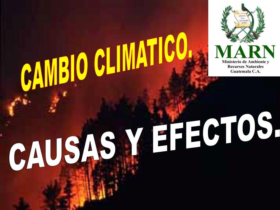 Se llama cambio climático a la variación global del clima de la Tierra.
