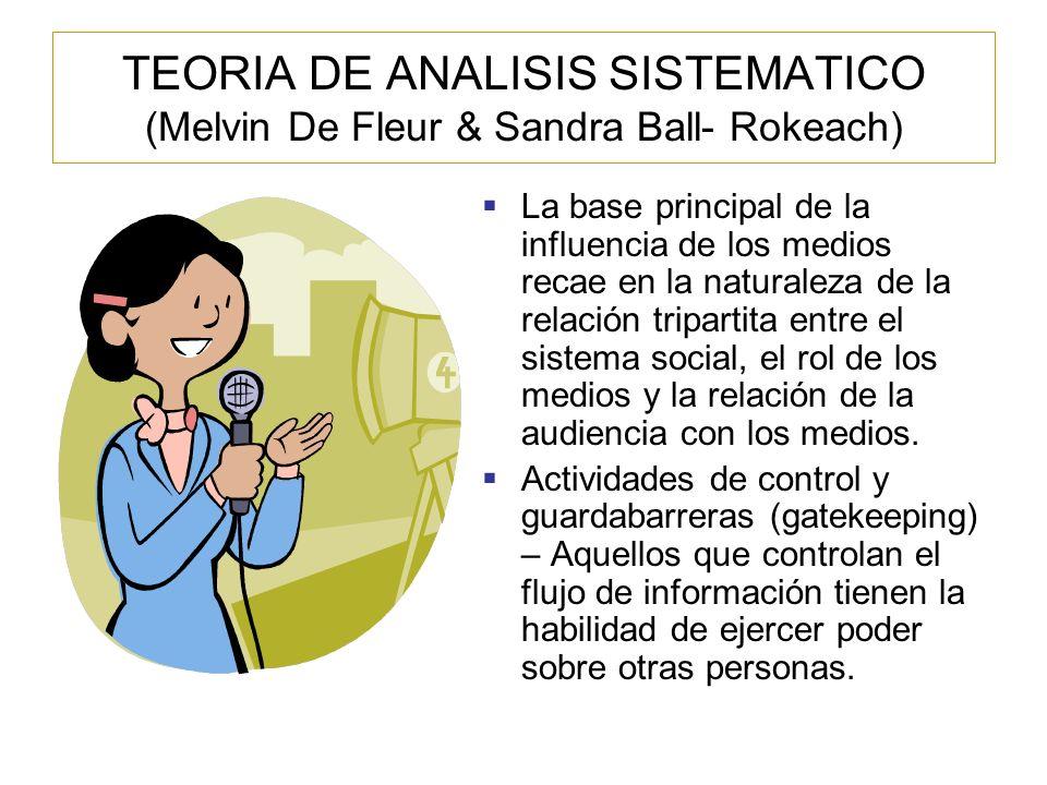 TEORIA DEL ESTABLECIMIENTO DE LA AGENDA (Maxwell E.