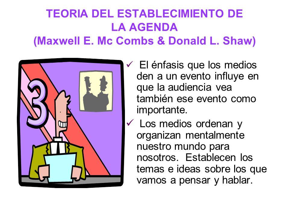TEORIA DE MARSHALL MC LUHAN El medio es el mensaje – El medio es más importante en sí mismo que lo que es transmitido.