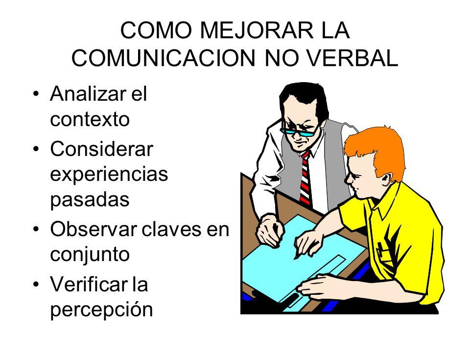 PROBLEMAS DE ESTUDIAR LA COMUNICACION NO VERBAL Puede ser ambigua Es continua Es multicanal Es cultural