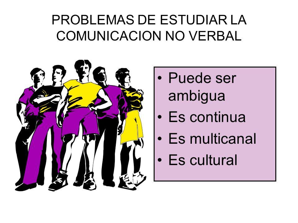 ¿POR QUE SE ESTUDIA LA COMUNICACION NO VERBAL.