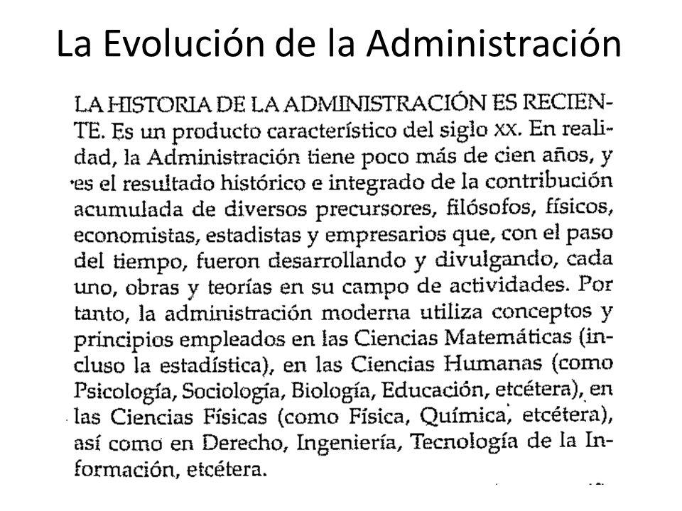 La Evolución de la Administración