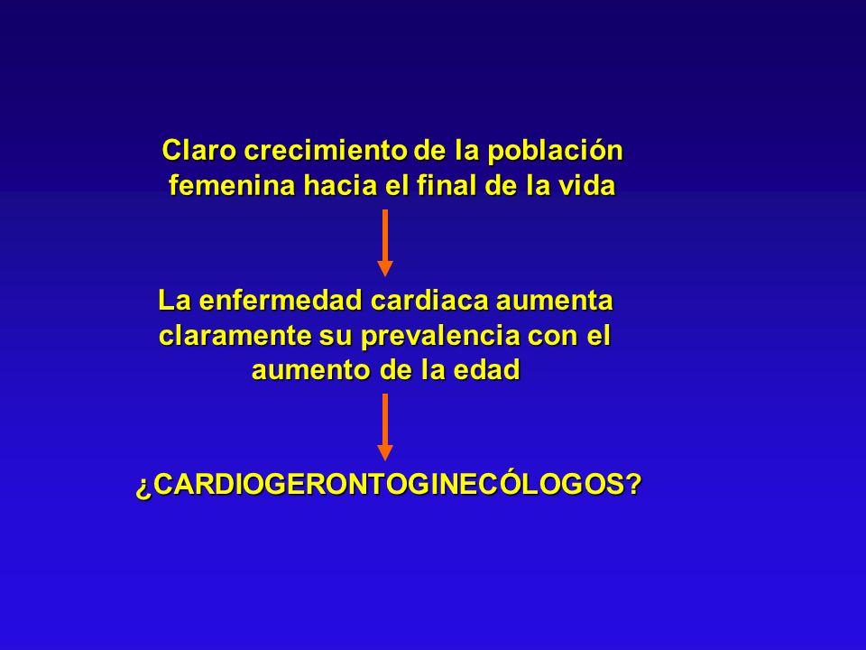Enfermedad Coronaria en la Mujer Se presenta en etapas más tardías de la vida: Cualquier manifestación de la enfermedad 10 años más tarde.