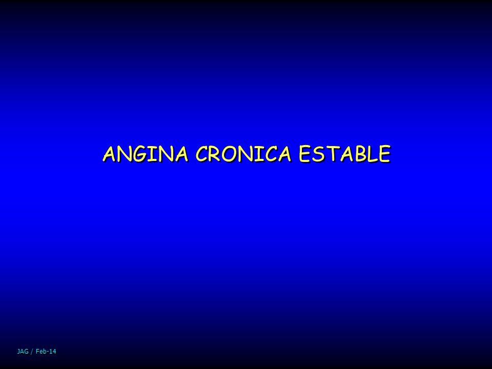 JAG / Feb-14 ANGINA CRONICA ESTABLE