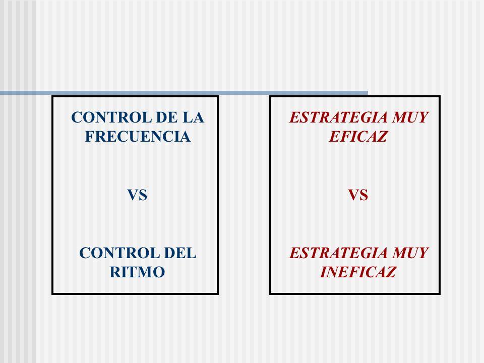ESTRATEGIA MUY EFICAZ VS ESTRATEGIA MUY INEFICAZ CONTROL DE LA FRECUENCIA VS CONTROL DEL RITMO