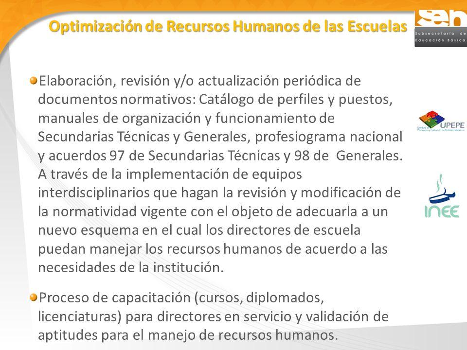 Elaboración, revisión y/o actualización periódica de documentos normativos: Catálogo de perfiles y puestos, manuales de organización y funcionamiento