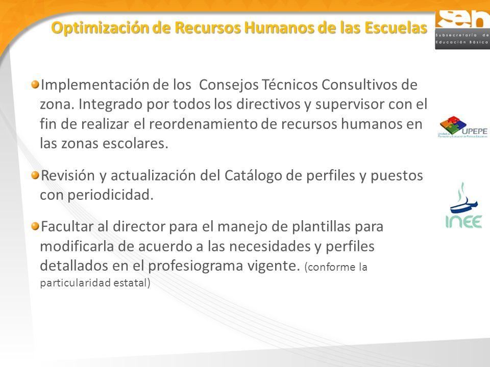 Implementación de los Consejos Técnicos Consultivos de zona. Integrado por todos los directivos y supervisor con el fin de realizar el reordenamiento