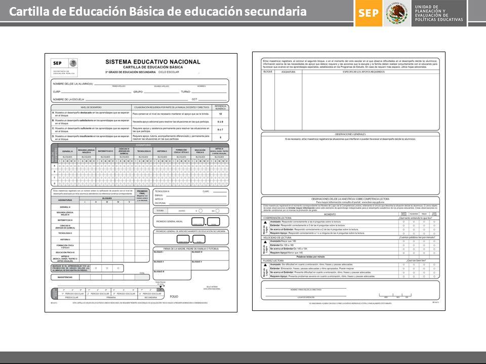 Cartilla de Educación Básica de educación secundaria