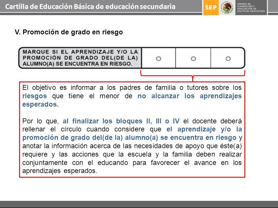 Cartilla de Educación Básica de educación secundaria El objetivo es informar a los padres de familia o tutores sobre los riesgos que tiene el menor de