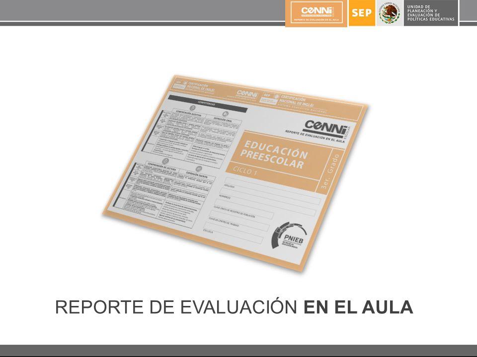 REPORTE DE EVALUACIÓN EN EL AULA
