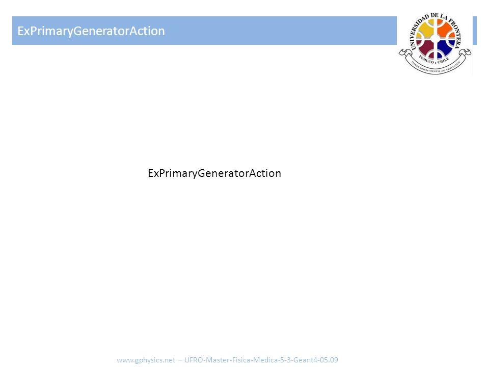 ExPrimaryGeneratorAction www.gphysics.net – UFRO-Master-Fisica-Medica-5-3-Geant4-05.09