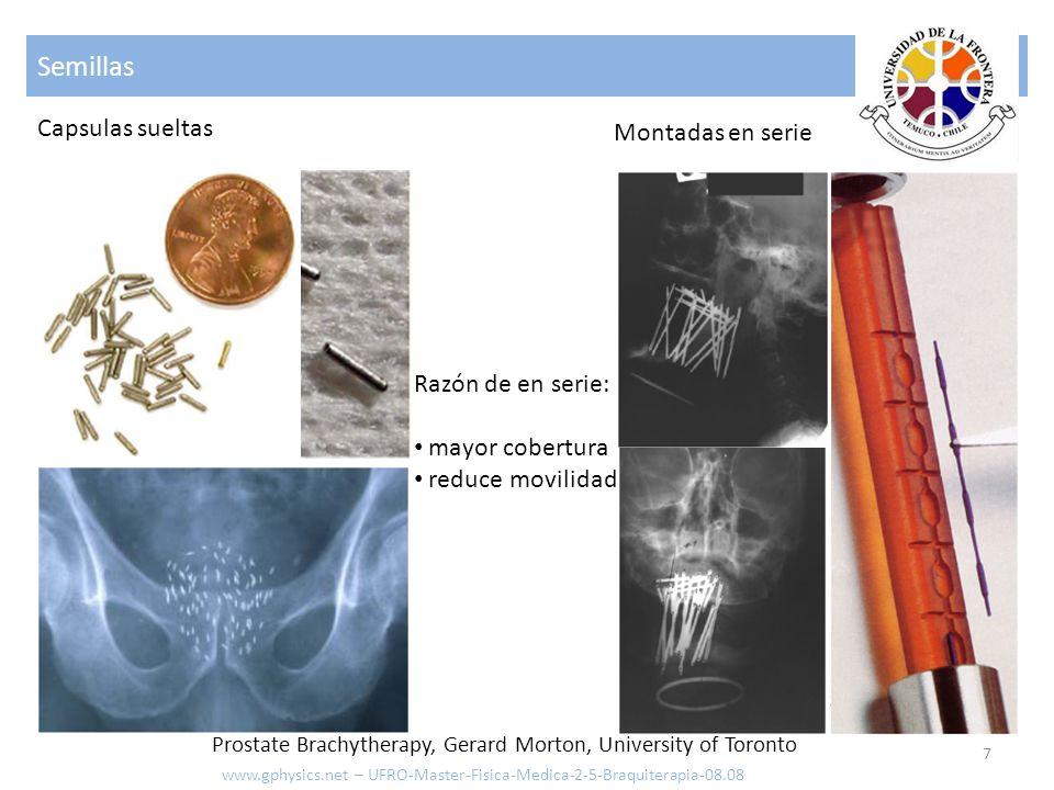 Planificación 8 www.gphysics.net – UFRO-Master-Fisica-Medica-2-5-Braquiterapia-08.08 Análisis de iso-curvas Prostate Brachytherapy, Gerard Morton, University of Toronto
