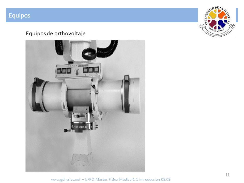 Equipos 11 Equipos de orthovoltaje www.gphysics.net – UFRO-Master-Fisica-Medica-1-1-Introduccion-08.08