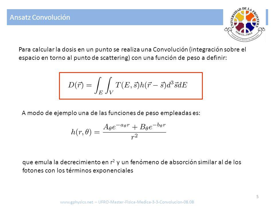 Problemática 6 La calidad del método depende de la función de peso.