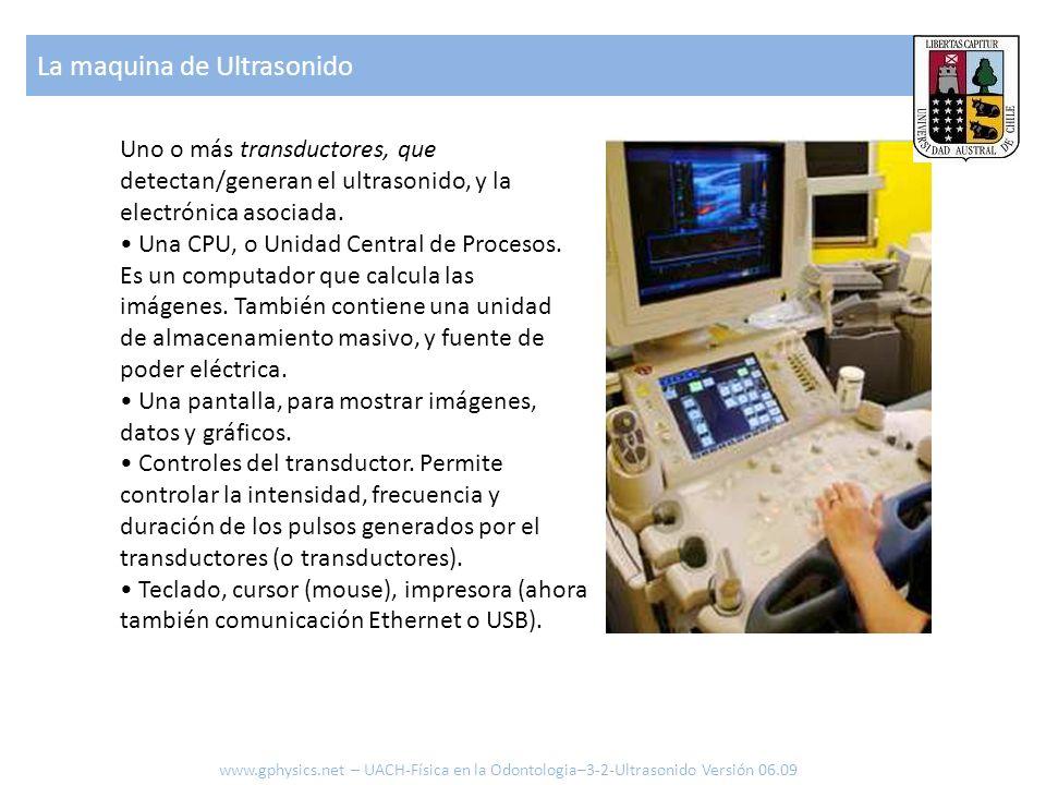 Uno o más transductores, que detectan/generan el ultrasonido, y la electrónica asociada. Una CPU, o Unidad Central de Procesos. Es un computador que c