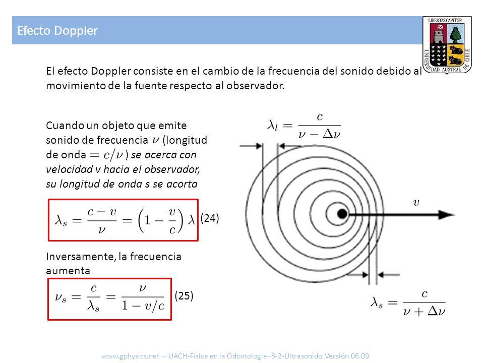 El efecto Doppler consiste en el cambio de la frecuencia del sonido debido al movimiento de la fuente respecto al observador. Cuando un objeto que emi