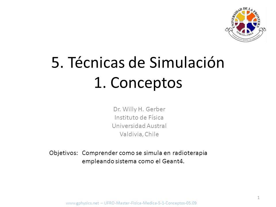 Programar 2 www.gphysics.net – UFRO-Master-Fisica-Medica-5-1-Conceptos-05.09 Yo sabría como calcular la dosis, pero es complejo y largo por lo que necesita de un PC.