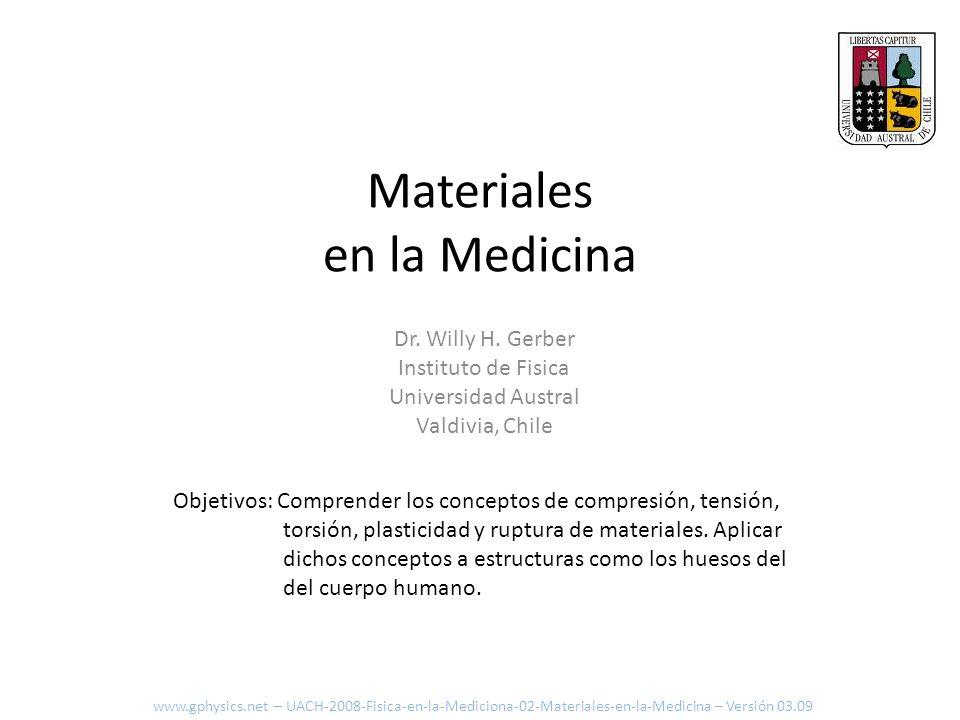 Fuerza y Elasticidad Consideremos un dinamómetro: www.gphysics.net – UACH-2008-Fisica-en-la-Mediciona-02-Materiales-en-la-Medicina – Versión 03.09