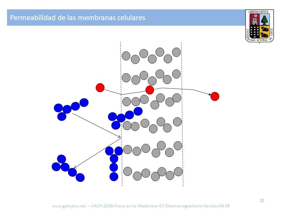 Permeabilidad de las membranas celulares www.gphysics.net – UACH-2008-Fisica-en-la-Mediciona-07-Electromagnetismo-Version-04.09 15