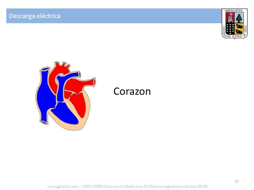 Descarga eléctrica www.gphysics.net – UACH-2008-Fisica-en-la-Mediciona-07-Electromagnetismo-Version-04.09 27 Corazon