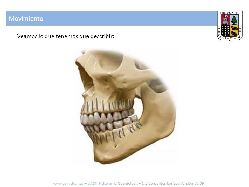 Movimiento Veamos lo que tenemos que describir: www.gphysics.net – UACH-Fisica en la Odontologia– 1-1-Conceptos-basicos-Versión 03.09