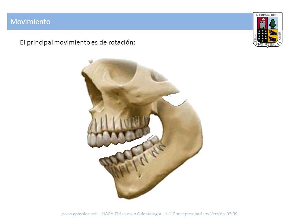 Movimiento El principal movimiento es de rotación: www.gphysics.net – UACH-Fisica en la Odontologia– 1-1-Conceptos-basicos-Versión 03.09