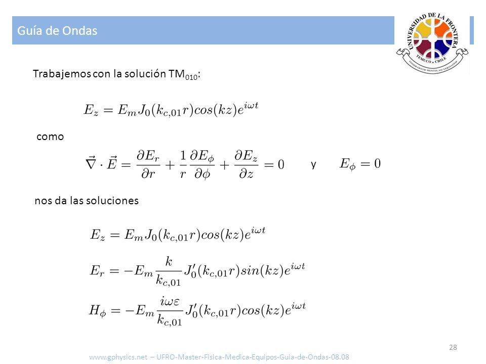 Guía de Ondas 28 Trabajemos con la solución TM 010 : como y www.gphysics.net – UFRO-Master-Fisica-Medica-Equipos-Guia-de-Ondas-08.08 nos da las soluci