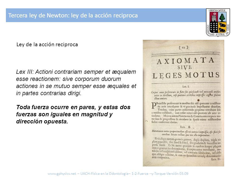 Lex III: Actioni contrariam semper et æqualem esse reactionem: sive corporum duorum actiones in se mutuo semper esse æquales et in partes contrarias d
