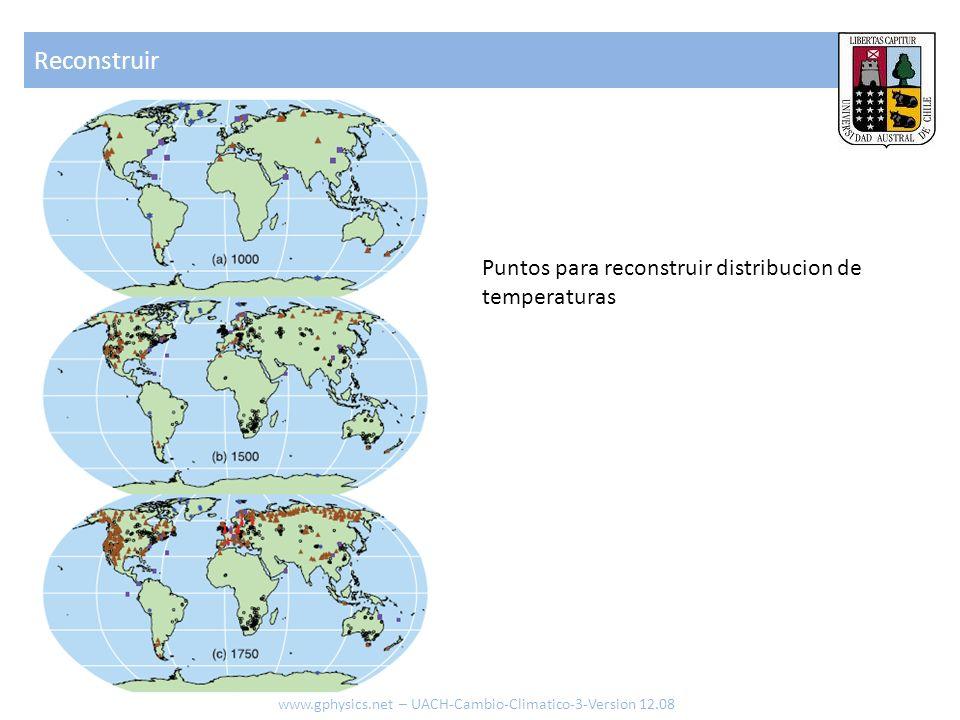 Reconstruir www.gphysics.net – UACH-Cambio-Climatico-3-Version 12.08 Puntos para reconstruir distribucion de temperaturas