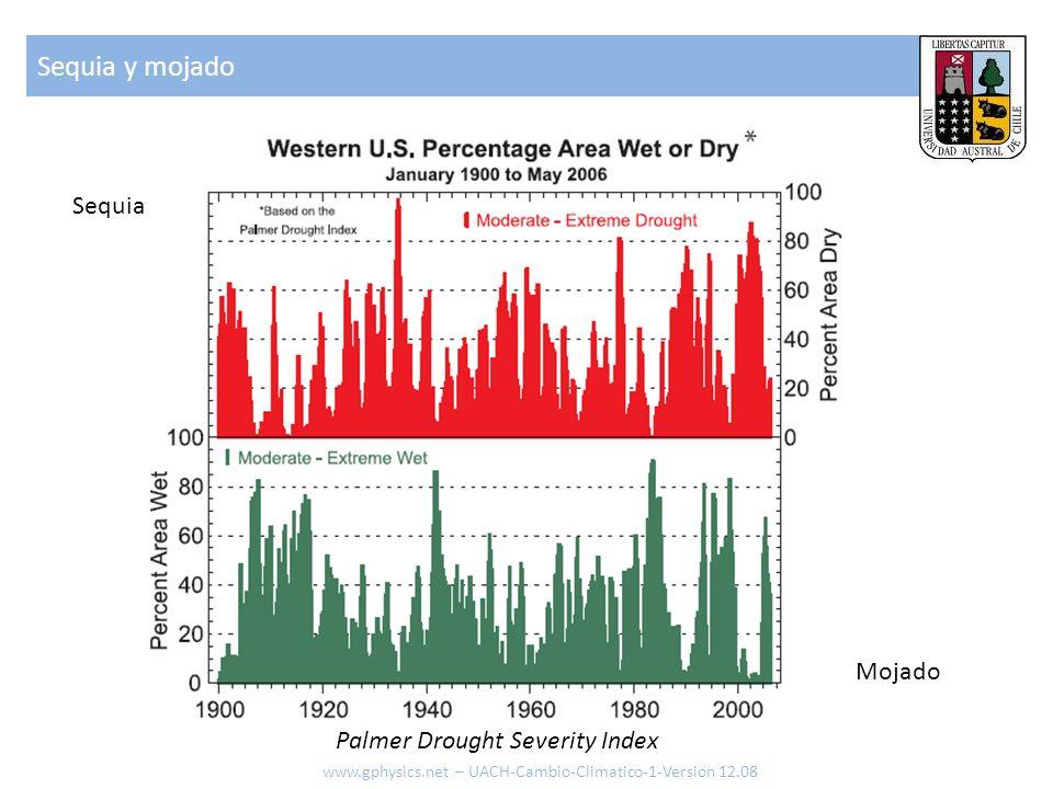 Sequia y mojado www.gphysics.net – UACH-Cambio-Climatico-1-Version 12.08 Palmer Drought Severity Index Sequia Mojado