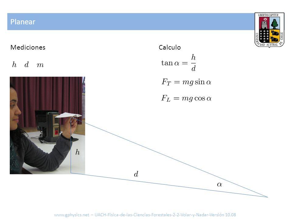 Planear www.gphysics.net – UACH-Fisica-de-las-Ciencias-Forestales-2-2-Volar-y-Nadar-Versión 10.08 MedicionesCalculo
