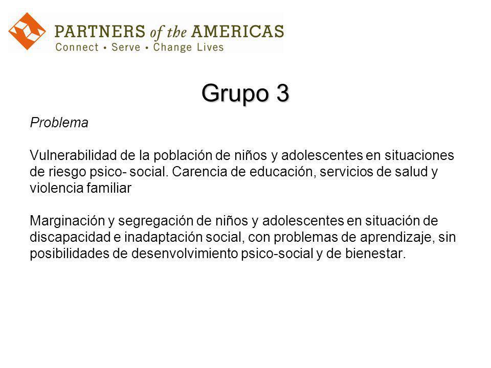 Grupo 3 Problema Vulnerabilidad de la población de niños y adolescentes en situaciones de riesgo psico- social.