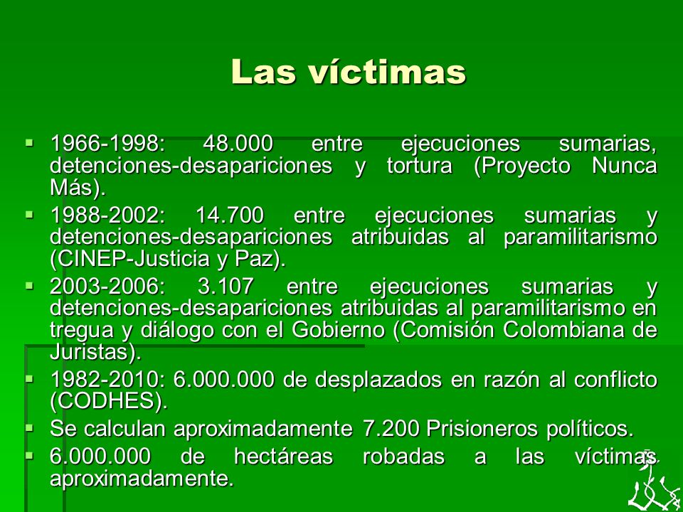 En medio del conflicto social, político y armado las víctimas se organizan 1.Por sectores sociales y políticos.