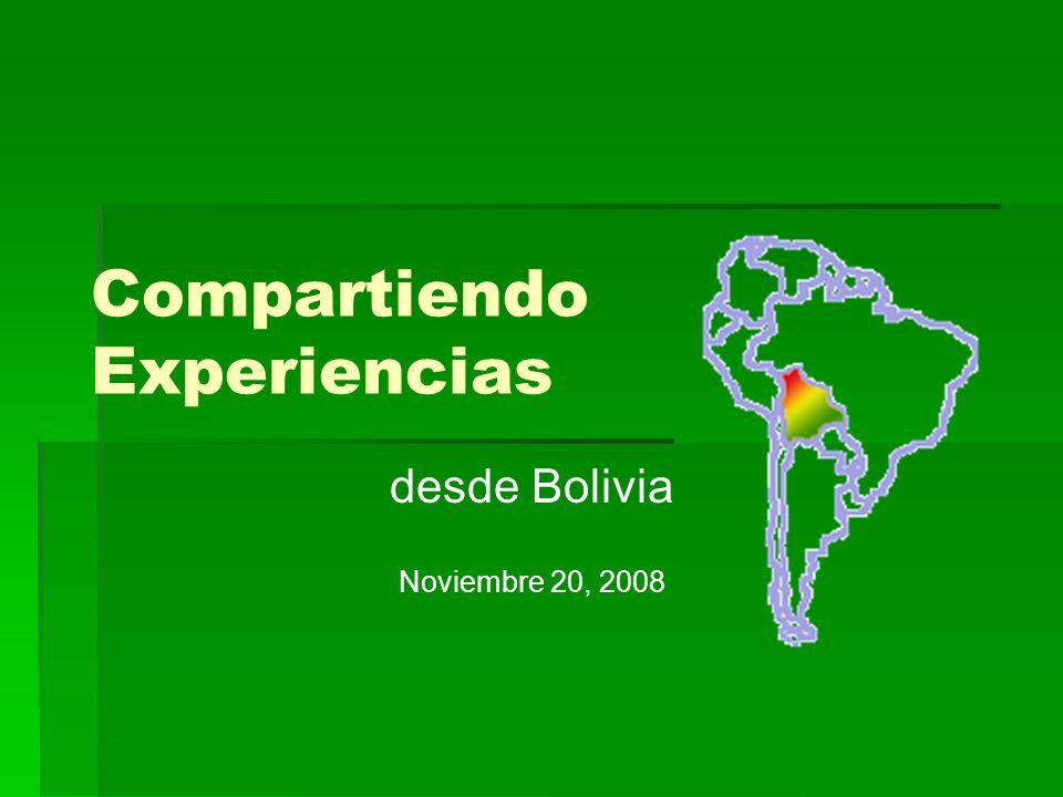 Compartiendo Experiencias desde Bolivia Noviembre 20, 2008