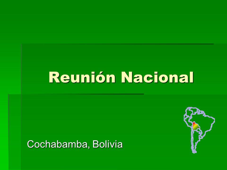 Reunión Nacional Cochabamba, Bolivia