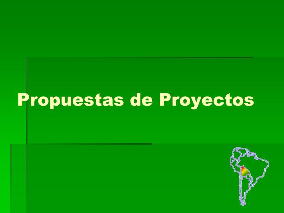 Propuestas de Proyectos