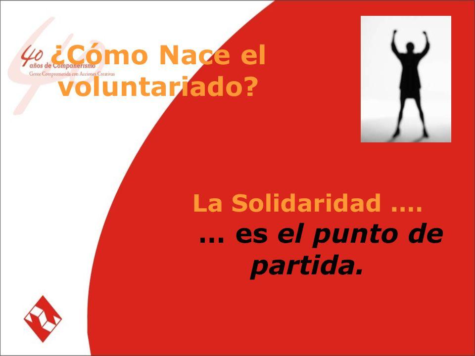 La Solidaridad.… … es el punto de partida. ¿Cómo Nace el voluntariado