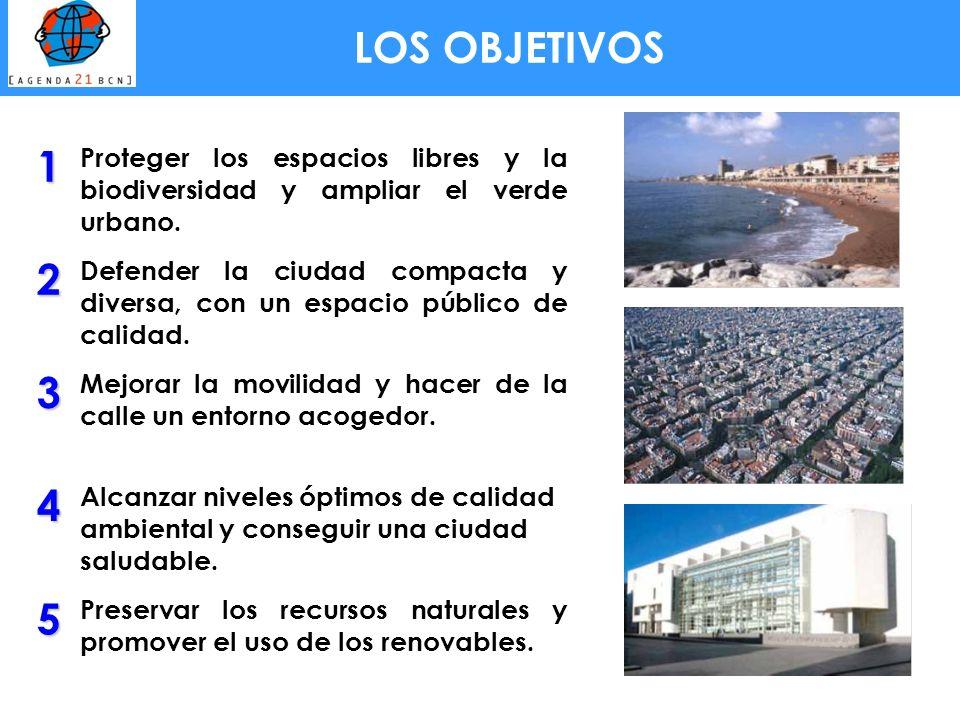 1 Proteger los espacios libres y la biodiversidad y ampliar el verde urbano. 2 Defender la ciudad compacta y diversa, con un espacio público de calida