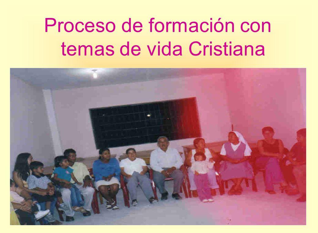 Proceso de formación con temas de vida Cristiana