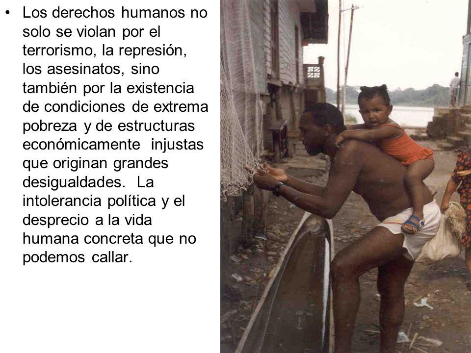 EN DEFENSA PERMANENTE DE LOS DERECHOS HUMANOS ANUNCIAMOS AL MUNDO, QUE DIOS RESPETA NUESTROS DERECHOS INCLUSO CUANDO NOS ALEJAMOS DE EL, POR ELLO NOS