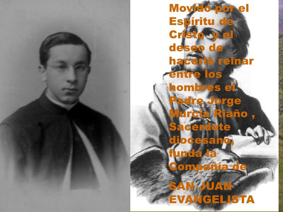 Movido por el Espíritu de Cristo y el deseo de hacerlo reinar entre los hombres el Padre Jorge Murcia Riaño, Sacerdote diocesano, funda la Compañía de