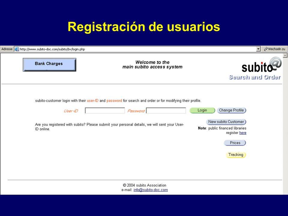 Registración de usuarios