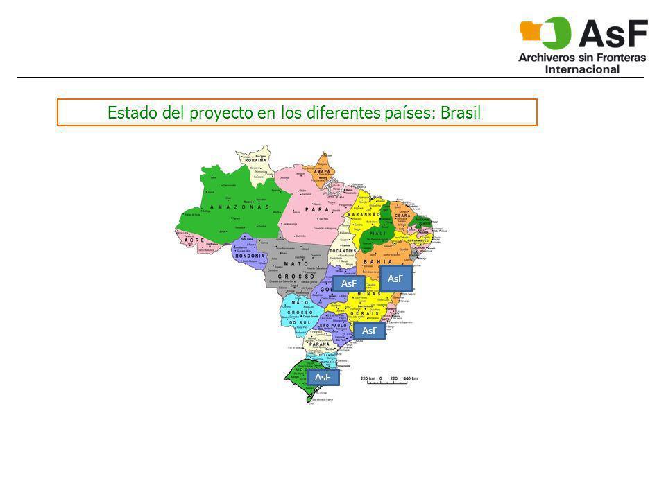 Estado del proyecto en los diferentes países: Brasil AsF