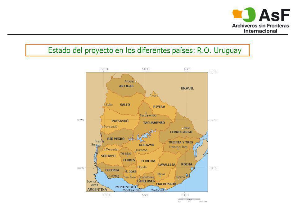 Estado del proyecto en los diferentes países: R.O. Uruguay